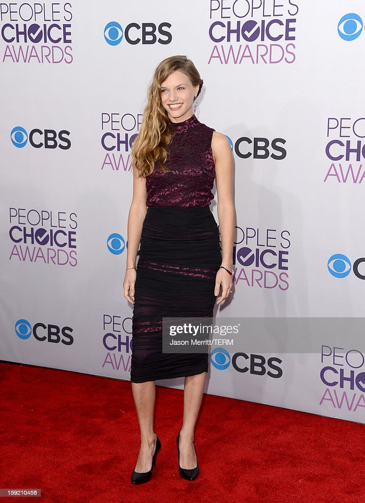 Actress Tracy Spiridakos attends the 39th Annual People's Choice Awards at Nokia Theatre L.A. Live on January 9, 2013 in Los Angeles, California.