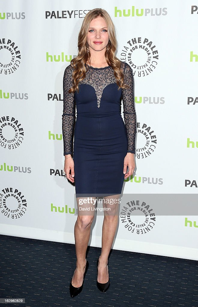 Actress Tracy Spiridakos attends The Paley Center for Media's PaleyFest 2013 honoring 'Revolution' at the Saban Theatre on March 2, 2013 in Beverly Hills, California.
