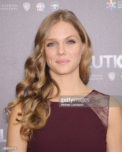 Actress Tracy Spiridakos attends the 'Revolution The Power of Entertainment' season two premiere at United Nations Headquarters on September 17 2013...
