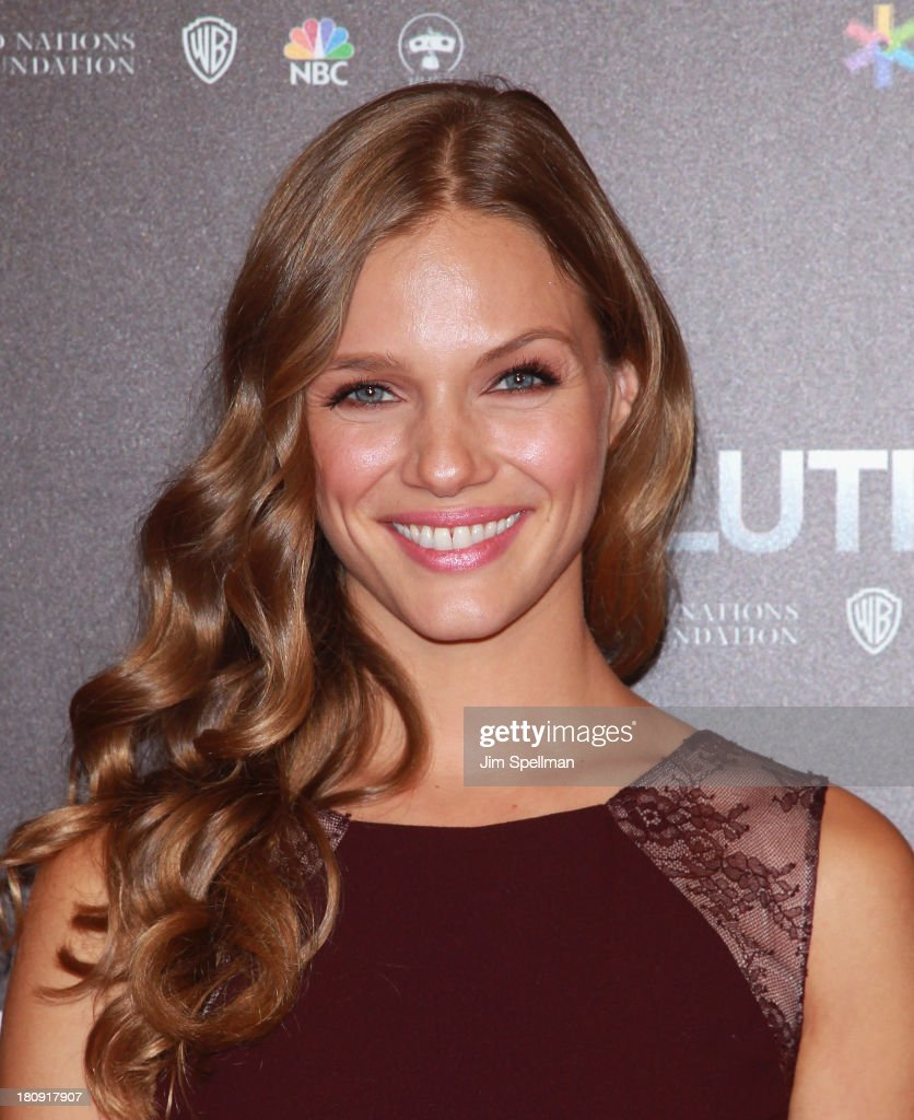 Actress <a gi-track='captionPersonalityLinkClicked' href=/galleries/search?phrase=Tracy+Spiridakos&family=editorial&specificpeople=8954855 ng-click='$event.stopPropagation()'>Tracy Spiridakos</a> attends the 'Revolution: The Power of Entertainment' Season 2 Premiere at the United Nations Headquarters on September 17, 2013 in New York City.
