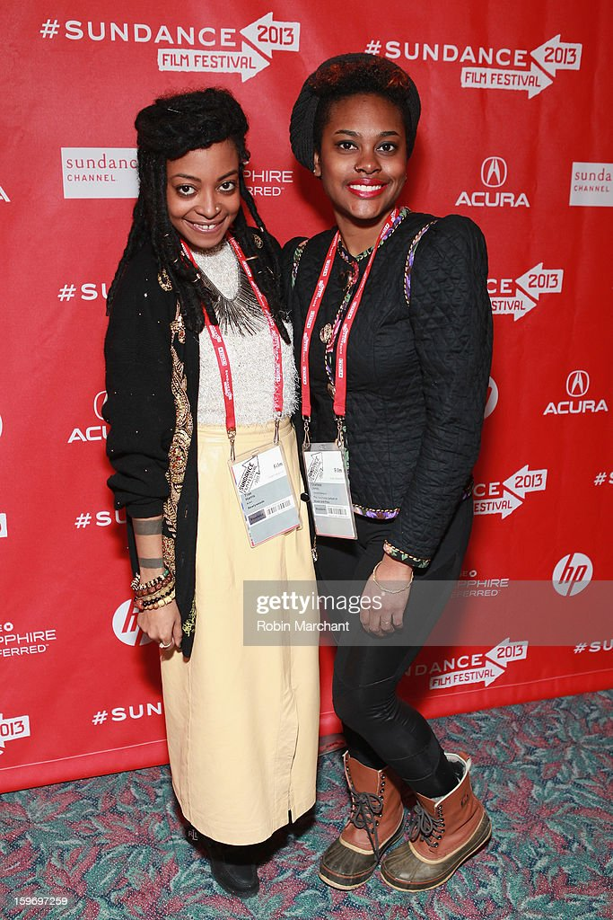 Actress Trae Harris and costume designer Charlese Antoinette Jones attend the 'Newlyweeds' Premiere at Prospector Square on January 18, 2013 in Park City, Utah.