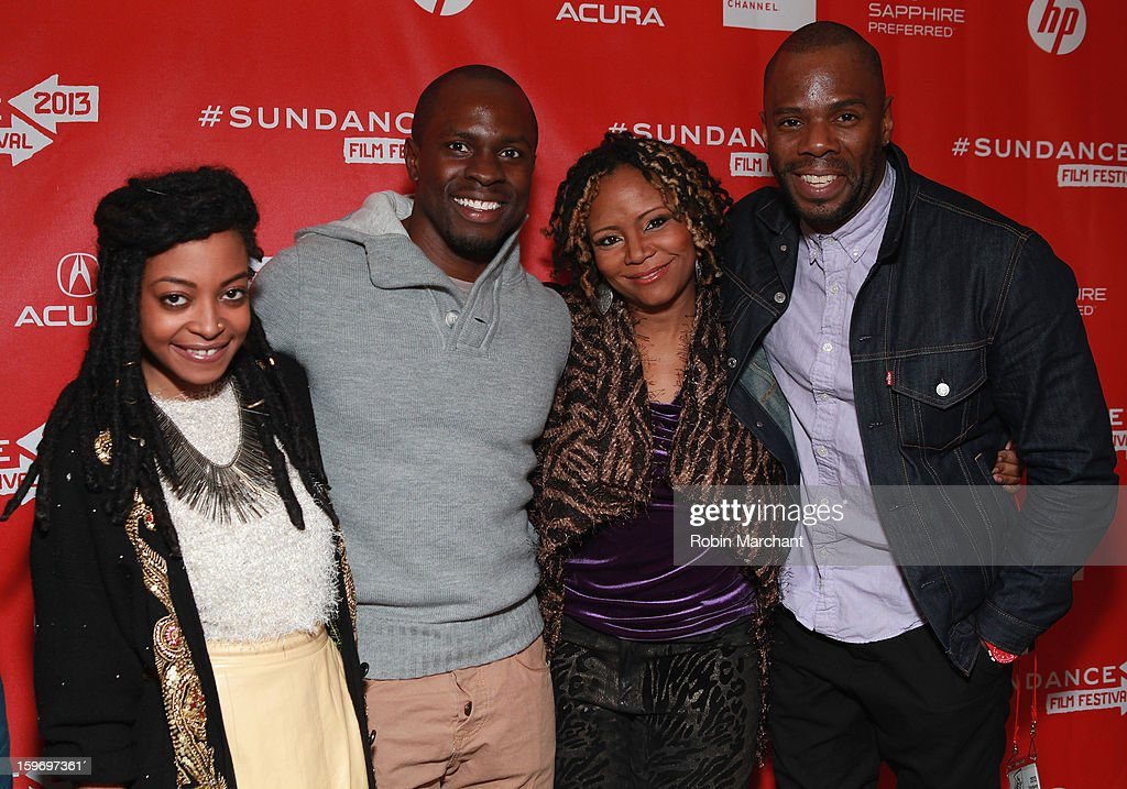 Actress Trae Harris, producer <a gi-track='captionPersonalityLinkClicked' href=/galleries/search?phrase=Gbenga+Akinnagbe&family=editorial&specificpeople=2293588 ng-click='$event.stopPropagation()'>Gbenga Akinnagbe</a>, actress <a gi-track='captionPersonalityLinkClicked' href=/galleries/search?phrase=Tonya+Pinkins&family=editorial&specificpeople=220801 ng-click='$event.stopPropagation()'>Tonya Pinkins</a> and actor <a gi-track='captionPersonalityLinkClicked' href=/galleries/search?phrase=Colman+Domingo&family=editorial&specificpeople=4946383 ng-click='$event.stopPropagation()'>Colman Domingo</a> attend the 'Newlyweeds' Premiere at Prospector Square on January 18, 2013 in Park City, Utah.