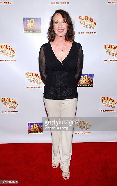 Actress Tress MacNeille arrives at the premiere screening of the new DVD 'Futurama Bender's Big Score' at the Arclight Theater on November 15 2007 in...