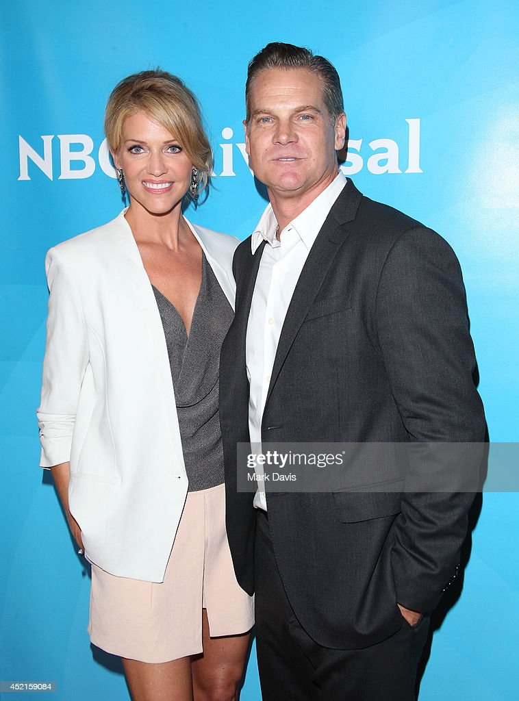 Actress <a gi-track='captionPersonalityLinkClicked' href=/galleries/search?phrase=Tricia+Helfer&family=editorial&specificpeople=227945 ng-click='$event.stopPropagation()'>Tricia Helfer</a> and <a gi-track='captionPersonalityLinkClicked' href=/galleries/search?phrase=Brian+Van+Holt&family=editorial&specificpeople=1667272 ng-click='$event.stopPropagation()'>Brian Van Holt</a> attend NBCUniversal's 2014 Summer TCA Tour day 2 at The Beverly Hilton Hotel on July 14, 2014 in Beverly Hills, California.