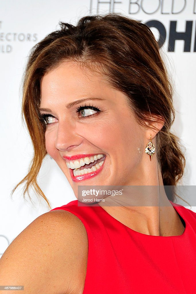 Actress Tricia Helfer arrives at the 18th Annual Art Directors Guild Excellence in Production Design Awards at The Beverly Hilton Hotel on February 8, 2014 in Beverly Hills, California.
