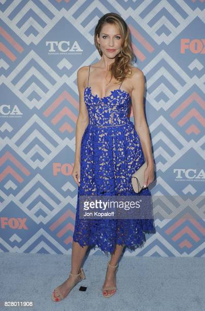 Actress Tricia Helfer arrives at the 2017 Fox Summer TCA Tour at the Soho House on August 8 2017 in West Hollywood California