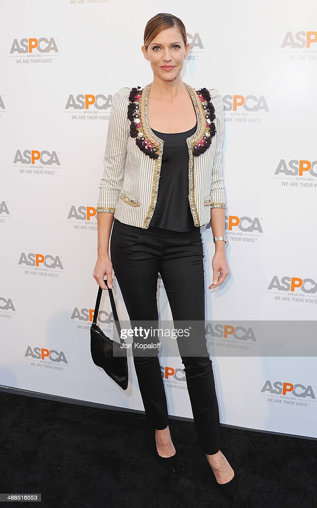Actress <a gi-track='captionPersonalityLinkClicked' href=/galleries/search?phrase=Tricia+Helfer&family=editorial&specificpeople=227945 ng-click='$event.stopPropagation()'>Tricia Helfer</a> arrives at The American Society For The Prevention Of Cruelty To Animals Celebrity Cocktail Party on May 6, 2014 in Beverly Hills, California.