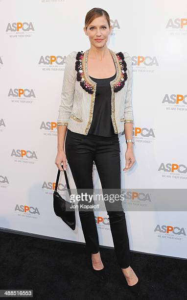 Actress Tricia Helfer arrives at The American Society For The Prevention Of Cruelty To Animals Celebrity Cocktail Party on May 6 2014 in Beverly...