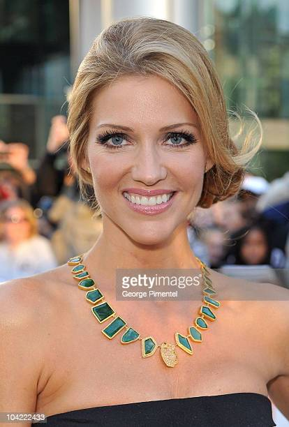 Actress Tricia Helfer attends 'A Beginner's Guide To Endings' Premiere during the 35th Toronto International Film Festival at Roy Thomson Hall on...
