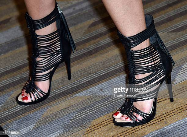 Actress Tricia Helfer attends 'Ascension' Press Line during ComicCon International 2014 at Hilton Bayfront on July 26 2014 in San Diego California