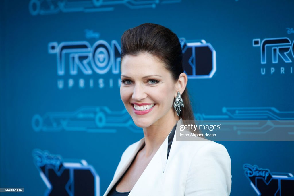 Actress Tricia Helfer attends Disney XD's 'TRON: Uprising' Press Event And Reception at DisneyToon Studios on May 12, 2012 in Glendale, California.
