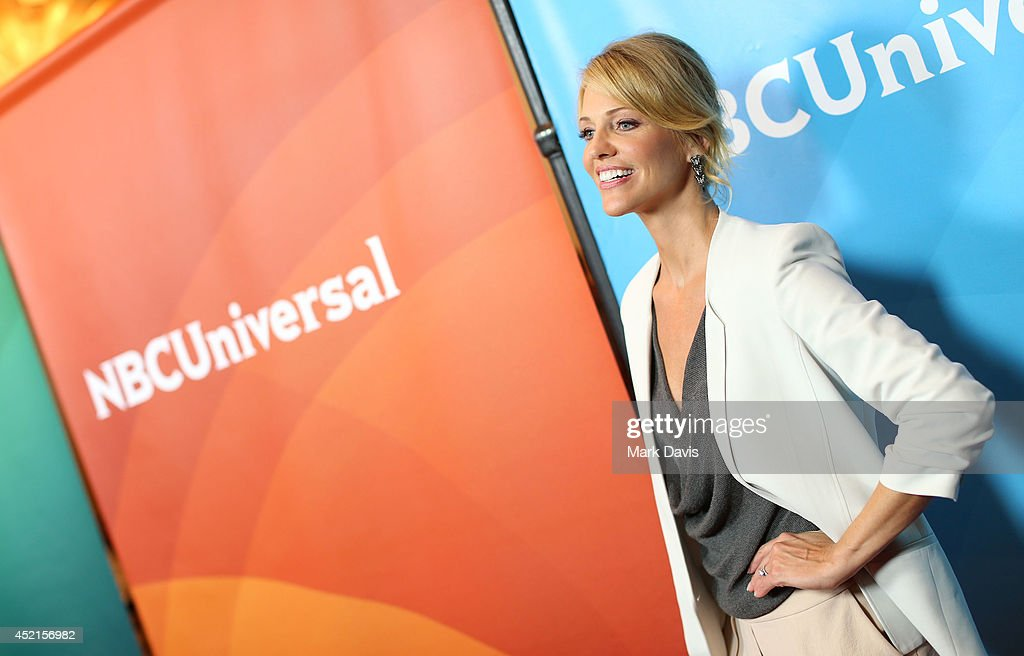 Actress <a gi-track='captionPersonalityLinkClicked' href=/galleries/search?phrase=Tricia+Helfer&family=editorial&specificpeople=227945 ng-click='$event.stopPropagation()'>Tricia Helfer</a> attends NBCUniversal's 2014 Summer TCA Tour day 2 at The Beverly Hilton Hotel on July 14, 2014 in Beverly Hills, California.