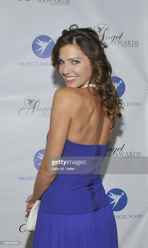Actress Tricia Helfer attends the 17th Annual Angel Awards at Project Angel Food on August 18, 2012 in Los Angeles, California.