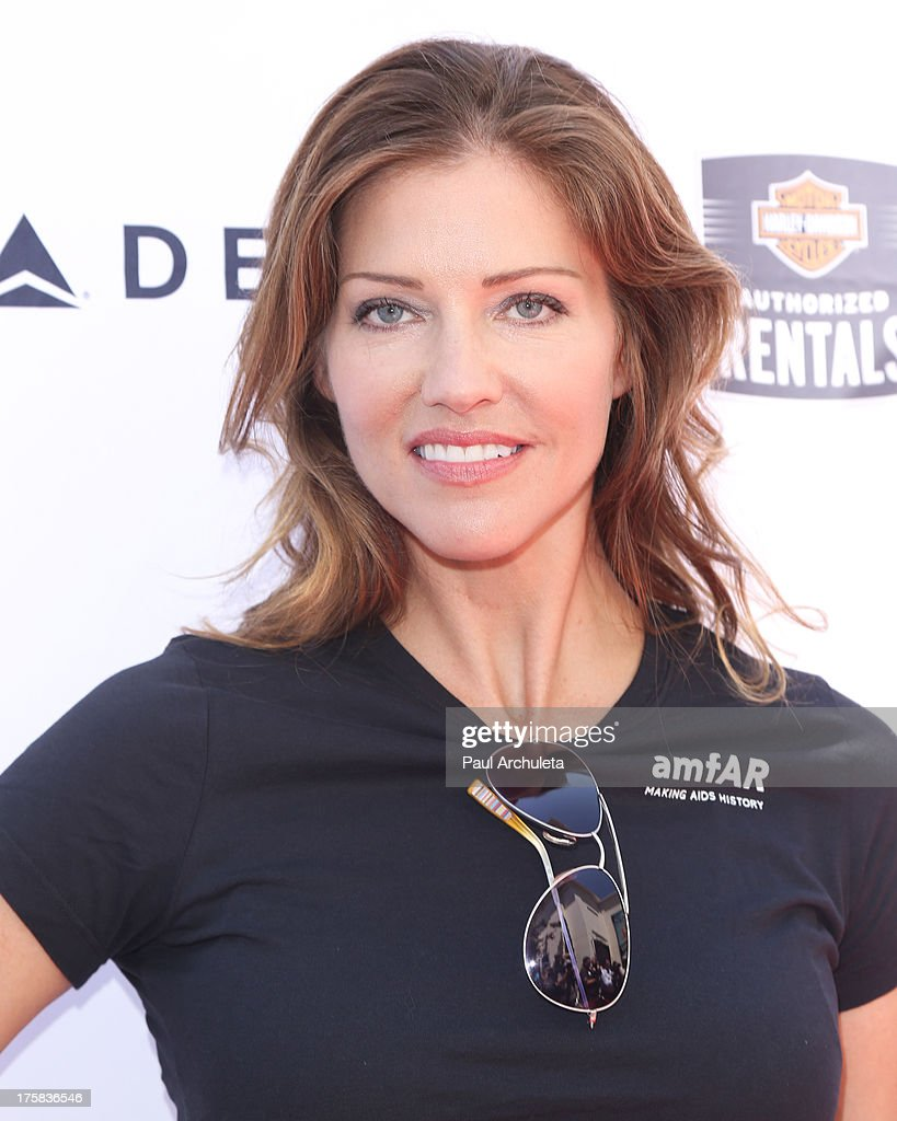 Actress Tricia Helfer attends the 4th annual Kiehl's LifeRide for amfAR at The Grove on August 8, 2013 in Los Angeles, California.
