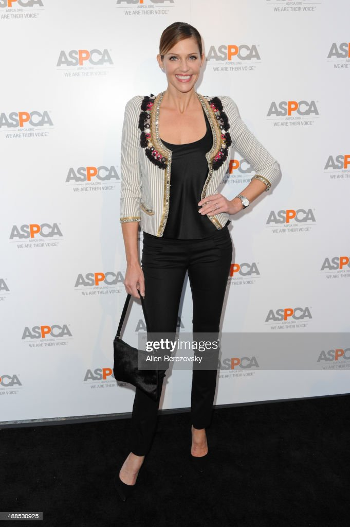 Actress Tricia Helfer attends the American Society for the Prevention of Cruelty to Animals celebrity cocktail party on May 6, 2014 in Beverly Hills, California.