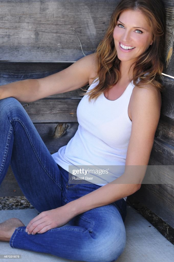 Actress Tricia Helfer is photographed for Gladys Magazine on August 1, 2013 in Santa Monica, California.