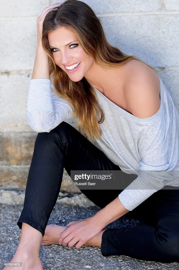 Actress Tricia Helfer is photographed for Gladys Magazine on August 1, 2013 in Santa Monica, California. PUBLISHED