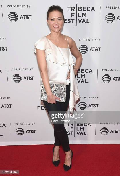 Actress Trieste Kelly Dunn attends the 'Devil's Gate' screening during the 2017 Tribeca Film Festival at Cinepolis Chelsea on April 24 2017 in New...