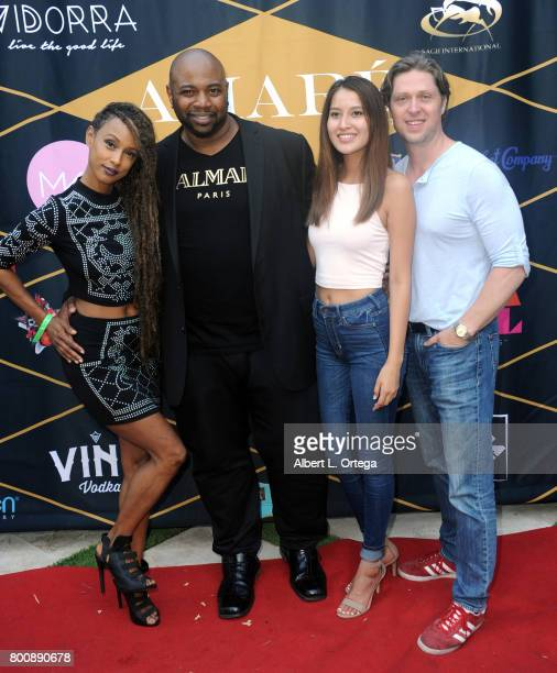 Actress Trina McGee actor Marcello Thedford and guests attend the Amare Magazine 1st Year Anniversary Issue Release Soiree held at a Private...