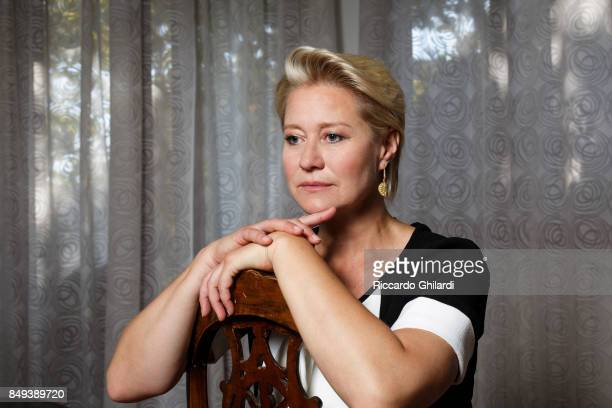 Actress Trine Dyrholm is photographed for Self Assignment on August 30 2017 in Venice Italy