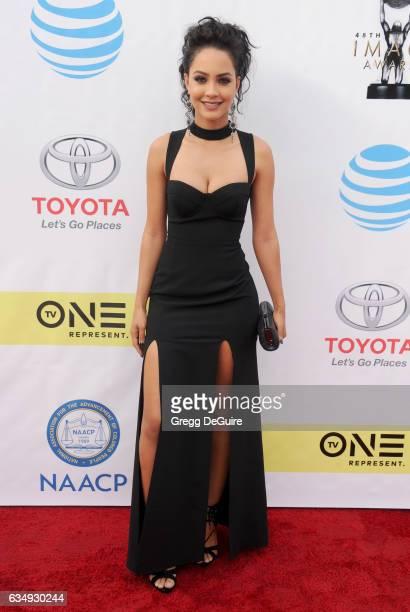 Actress Tristin Mays arrives at the 48th NAACP Image Awards at Pasadena Civic Auditorium on February 11 2017 in Pasadena California