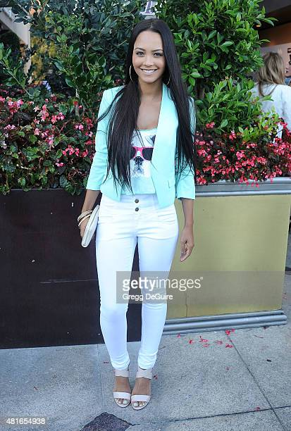 Actress Tristin Mays arrives at the premiere of 'Sharknado 3 Oh Hell No' at iPic Theaters on July 22 2015 in Los Angeles California