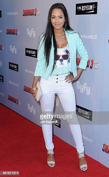 Actress Tristin Mays arrives at the Premiere Of The Asylum's 'Sharknado 3 Oh Hell No' at iPic Theaters on July 22 2015 in Los Angeles California