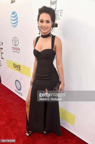 Actress Tristin Mays attends the 48th NAACP Image Awards at Pasadena Civic Auditorium on February 11 2017 in Pasadena California