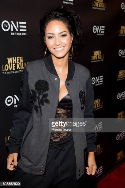 Actress Tristin Mays attends the 'When Love Kills The Falicia Blakely Story' movie screening at Regal Atlantic Station on August 9 2017 in Atlanta...