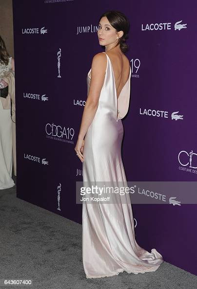 Actress Troian Bellisario arrives at the 19th CDGA at The Beverly Hilton Hotel on February 21 2017 in Beverly Hills California
