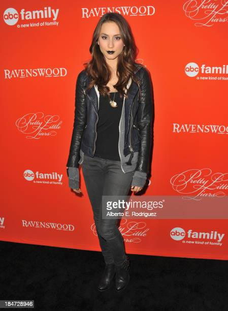 Actress Troian Bellisario attends a screening of ABC Family's 'Pretty Little Liars' Halloween episode at Hollywood Forever Cemetery on October 15...