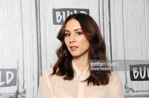Actress Troian Bellisario attends Build to discuss her work with missionbased brand This Bar Saves Lives at Build Studio on July 21 2017 in New York...