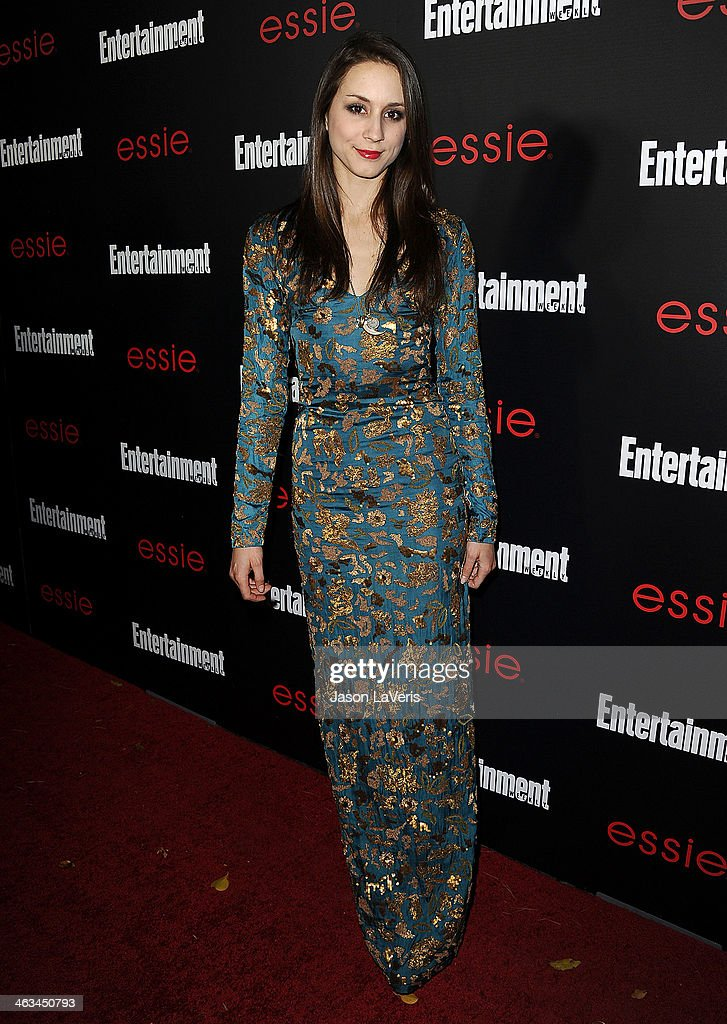 Actress <a gi-track='captionPersonalityLinkClicked' href=/galleries/search?phrase=Troian+Bellisario&family=editorial&specificpeople=6886214 ng-click='$event.stopPropagation()'>Troian Bellisario</a> attends the Entertainment Weekly SAG Awards pre-party at Chateau Marmont on January 17, 2014 in Los Angeles, California.