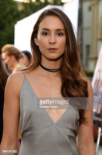 Actress Troian Bellisario attends the Los Angeles screening of Lifetime's 'Sister Cities' at Paramount Theatre on August 31 2016 in Hollywood...