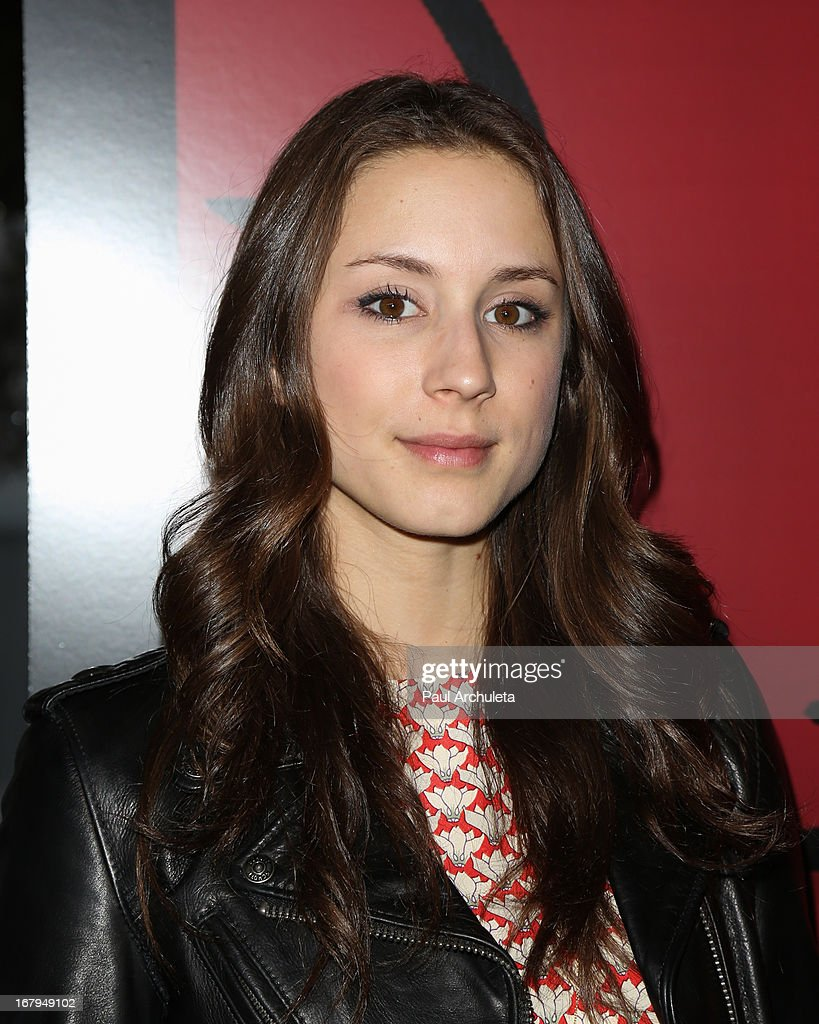 Actress Troian Bellisario attends the one year anniversary celebration for the WIGS digital channel at Akasha Restaurant on May 2, 2013 in Culver City, California.