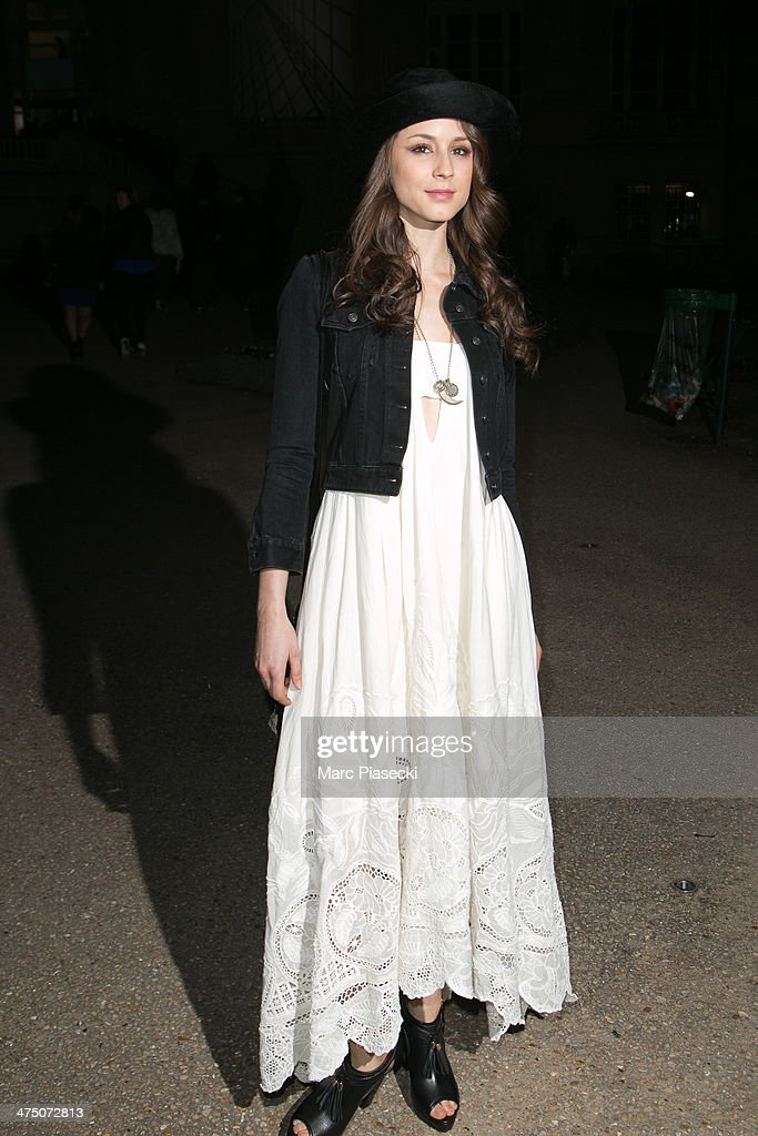 Actress Troian Bellissario attends the 'H&M Studio AW 2014' as part of the RTW Paris Fashion Week on February 26, 2014 in Paris, France.