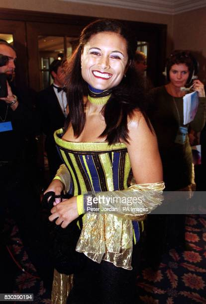 Actress Troy TitusAdams who plays Nina in BBC's Eastenders arriving at the BT Emmas at the Royal Lancaster Hotel in central London The awards...