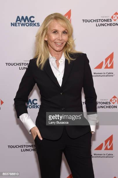 Actress Trudie Styler poses for a photo during the WICT Leadership Conference Touchstones Luncheon at Marriott Marquis Times Square on September 25...