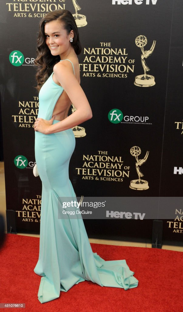 Actress True O'Brien arrives at the 41st Annual Daytime Emmy Awards at The Beverly Hilton Hotel on June 22, 2014 in Beverly Hills, California.