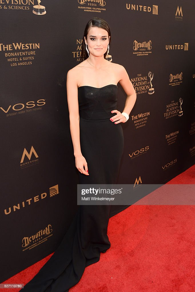 Actress True O'Brien arrives at the 43rd Annual Daytime Emmy Awards at the Westin Bonaventure Hotel on May 1, 2016 in Los Angeles, California.