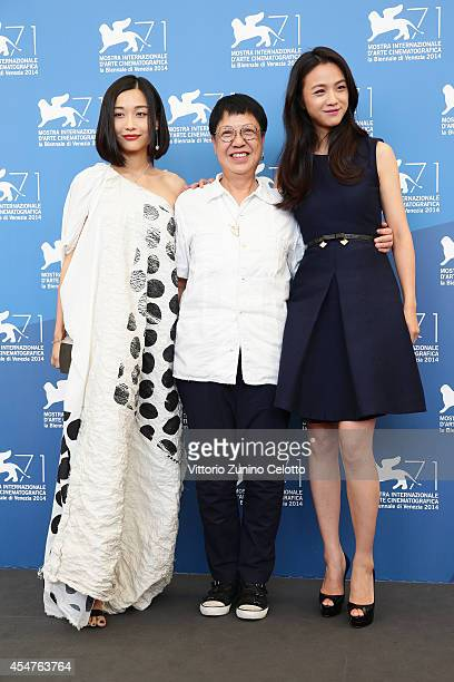 Actress Tuan Yuan with director Ann Hui and actress Tang Wei attend 'The Golden Era' photocall during the 71st Venice Film Festival on September 6...