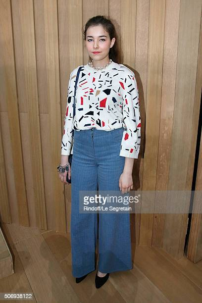 Actress Tugba Sunguroglu attends the Chanel Spring Summer 2016 show as part of Paris Fashion Week on January 26 2016 in Paris France