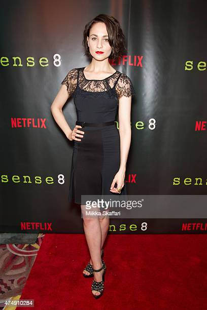 Actress Tuppence Middleton arrives at the Premiere of 'Sense8' at AMC Metreon 16 on May 27 2015 in San Francisco California