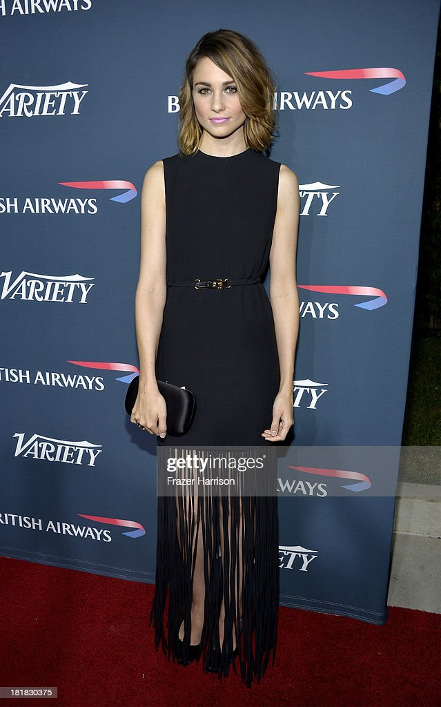 Actress <a gi-track='captionPersonalityLinkClicked' href=/galleries/search?phrase=Tuppence+Middleton&family=editorial&specificpeople=5846961 ng-click='$event.stopPropagation()'>Tuppence Middleton</a> attends British Airways and Variety Celebrate The Inaugural A380 Service Direct from Los Angeles to London and Discover Variety's 10 Brits to Watch on September 25, 2013 in Los Angeles, California.