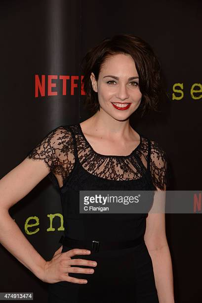 Actress Tuppence Middleton attends the Premiere Of Netflix's 'Sense8' at AMC Metreon 16 on May 27 2015 in San Francisco California