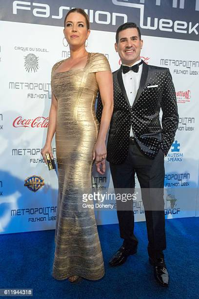 Actress TV host Singer Beauty Queen and former Miss Universe Alicia Machado arrives at the Metropolitan Fashion Week 2016 Closing Gala And Fashion...