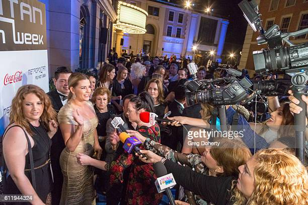 Actress TV host Singer Beauty Queen and former Miss Universe Alicia Machado and Producer Director Metropolitan Fashion Week and TV Personality...