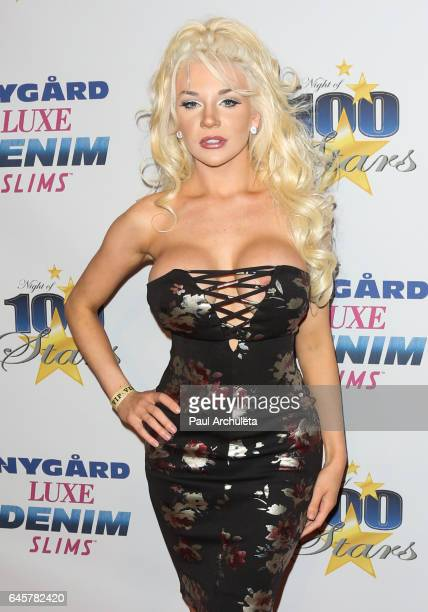 Actress / TV Personality Courtney Stodden attends the 27th annual 'Night Of 100 Stars' black tie dinner viewing gala at The Villa Aurora on February...