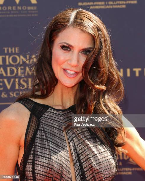 Actress / TV Personality Samantha Harris attends the 44th annual Daytime Emmy Awards at The Pasadena Civic Auditorium on April 30 2017 in Pasadena...