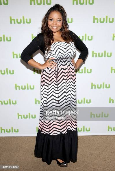 Actress Tymberlee Hill attends Hulu's TCA Presentation And Cocktail Party at The Beverly Hilton Hotel on July 12 2014 in Beverly Hills California